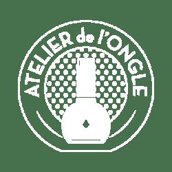 Logo de couleur blanche Laurie Atelier de l'Ongle 33